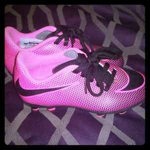 Girls Pink Nike Cleats